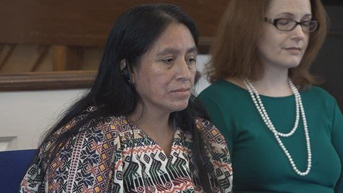 Maria Chavalan Sut, a 44-year-old indigenous woman from Guatemala, is seeking asylum in the U.S. after people set her home on fire. (Photo: CBS19 NEWS/Screenshot)
