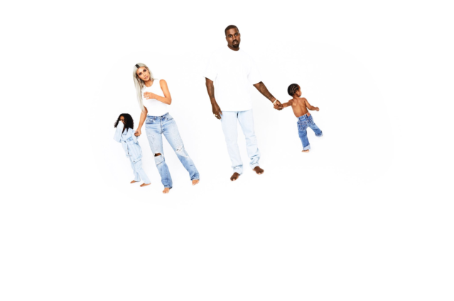<p>The entire West family — so far! — appears sans shoes. (Photo: Eli Russell Linnetz/Kim Kardashian via Twitter) </p>
