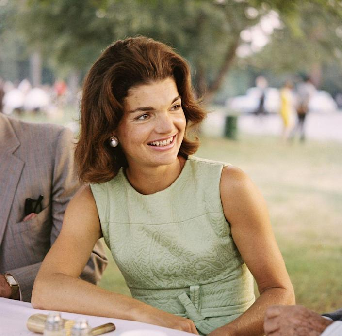 """<p>As one of the most influential figures in fashion, <a href=""""https://www.goodhousekeeping.com/life/entertainment/a33611/jackie-kennedy-onassis-facts/"""" rel=""""nofollow noopener"""" target=""""_blank"""" data-ylk=""""slk:First Lady Jackie Kennedy Onassis"""" class=""""link rapid-noclick-resp"""">First Lady Jackie Kennedy Onassis</a> popularized this voluminous style.</p>"""