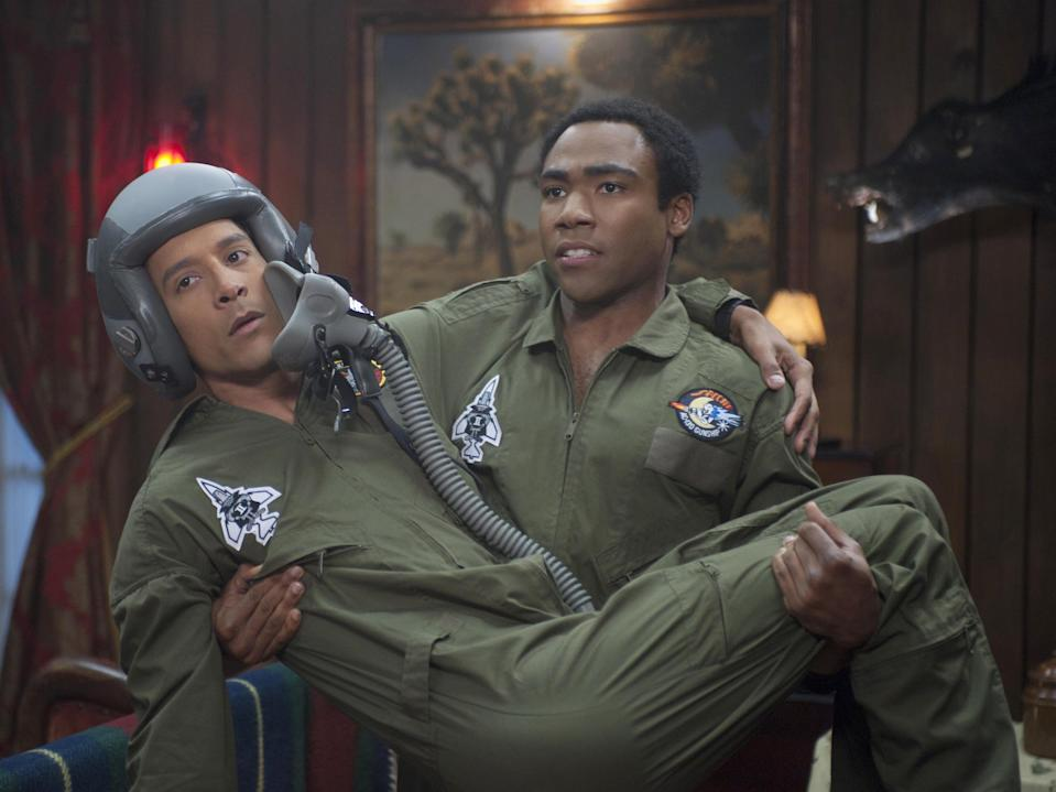 Danny Pudi and Donald Glover in 'Community' (Krasnoff Foster Pprods/Harmonius Claptrap/Russo Brothers/Kobal/Shutterstock)