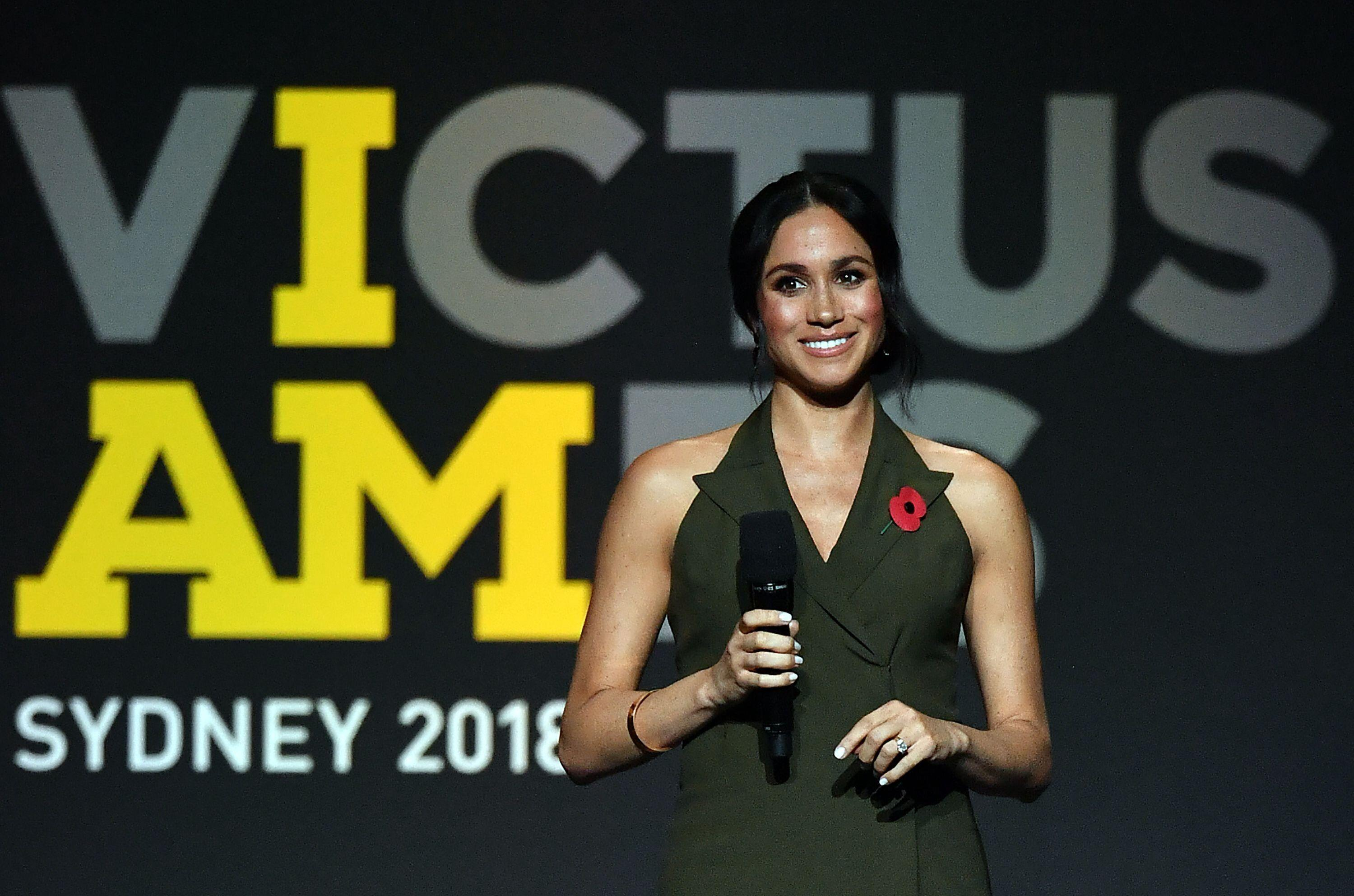 The Duchess of Sussex gives a speech at the closing ceremony of the Invictus Games Sydney 2018 [Photo: Getty]