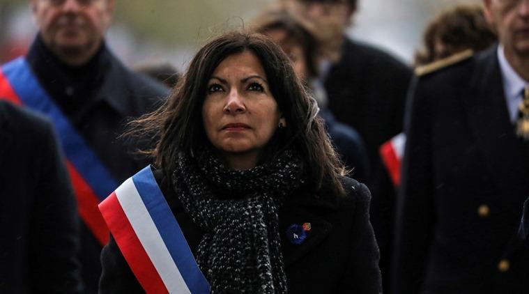 Paris mayor Anne Hidalgo set out her issues with the platform to IOC President Thomas Bach. (Source: Reuters)