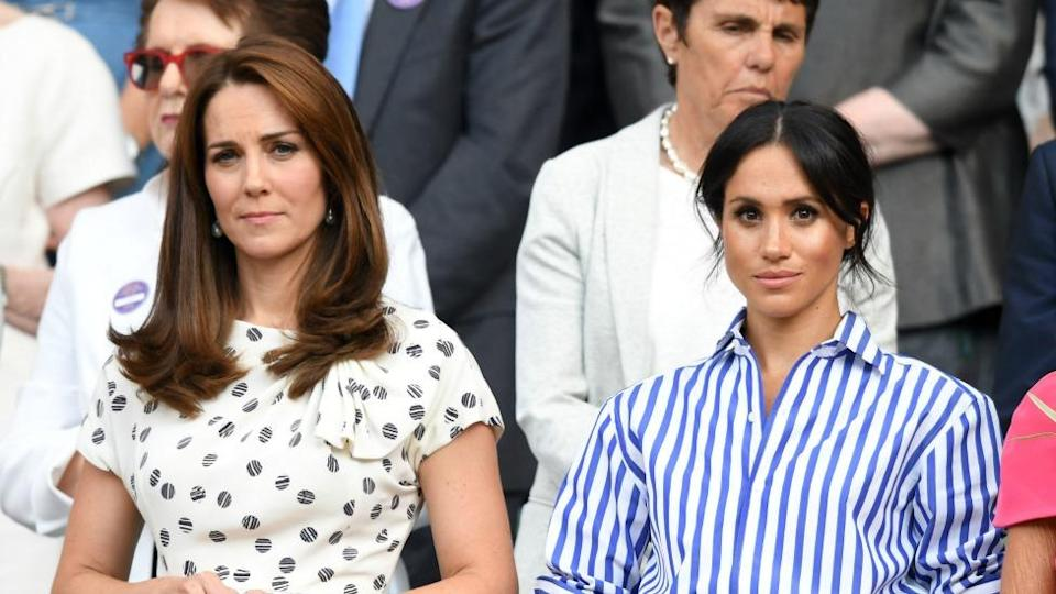 Kate reported rowed with Meghan during wedding planning earlier this year because she didn't like the way the American star was speaking to staff. Photo: Getty