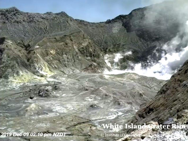 New Zealand volcano webcam