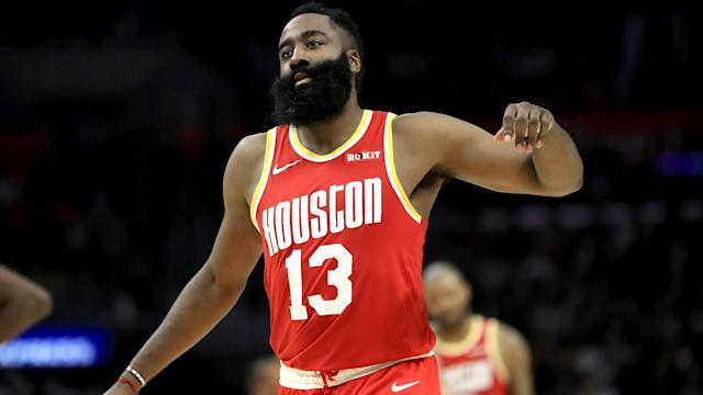 Houston Rockets star James Harden finished with 60 points in a thrashing of the Atlanta Hawks.