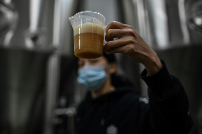"Wang Fan and his team made a beer called ""Wuhan Stay Strong"", which commemorates the traumatic period of the coronavirus outbreak"