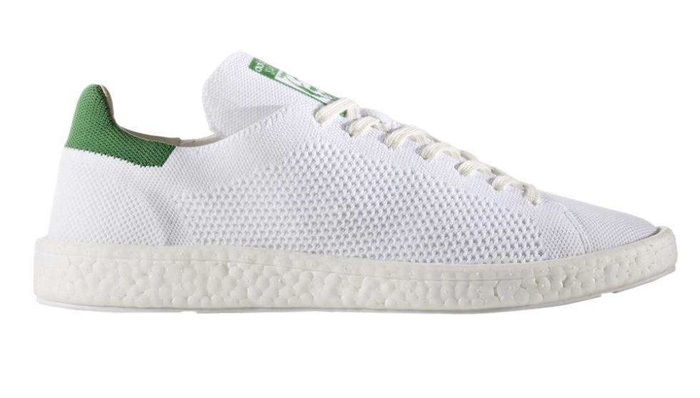 "<p><strong>Stan Smith Boost Primeknit</strong><span><strong></strong></span></p><p>Already a summer classic in terms of style, the Stan Smith is now available with a Primeknit upper, which makes both stylish <em>and</em> functional for those balmier days. </p><p><em>$140, <a rel=""nofollow"" href=""http://www.adidas.com/us/stan-smith-boost-primeknit-shoes/BB0013.html"">adidas.com</a></em></p>"