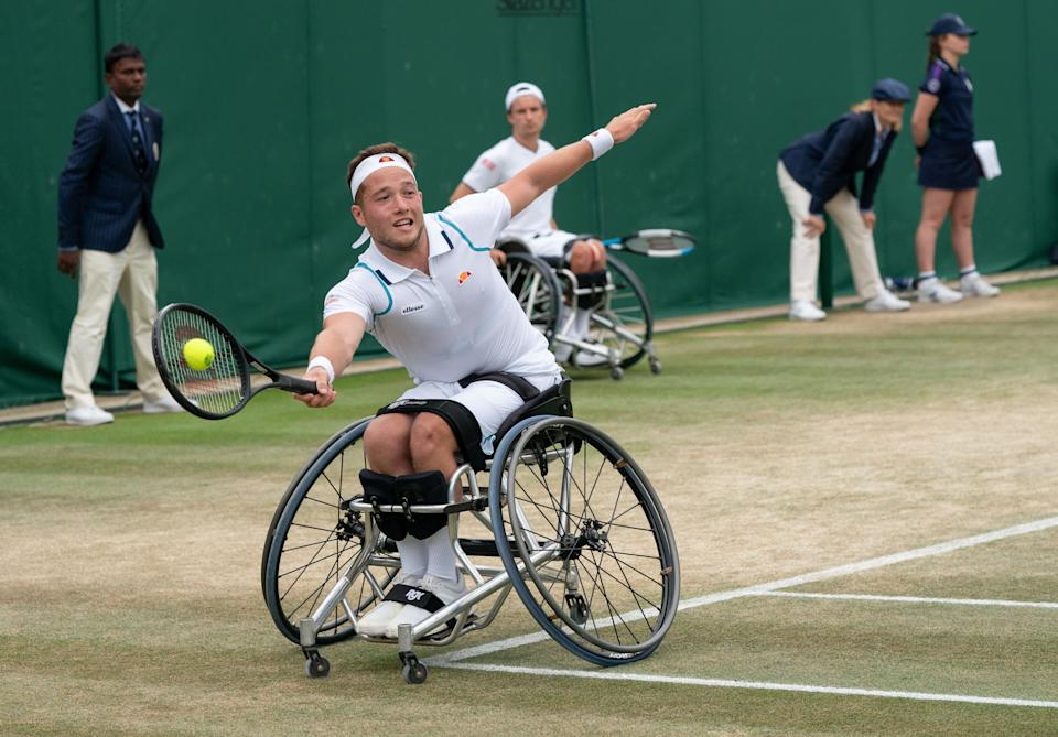 Wheelchair ace Hewett, 23, and British No.1 Evans, 31, claimed the men's award while Heather Watson won the women's prize
