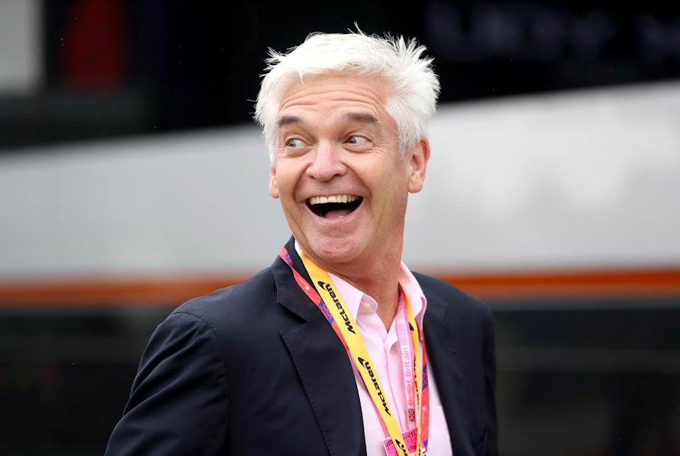 Phillip Schofield attending the British Grand Prix at Silverstone, Towcester. (Photo by David Davies/PA Images via Getty Images)