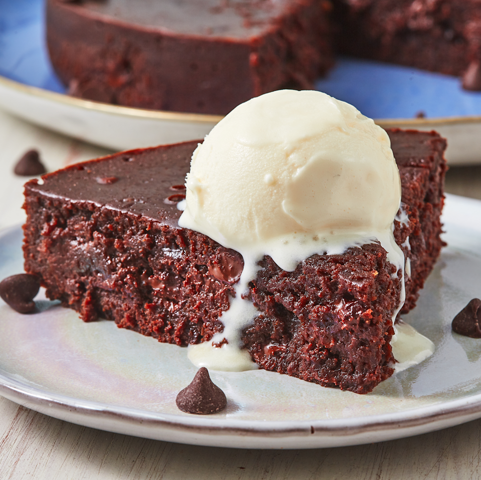"""<p>A classic fudge brownie has never looked yummier (or been easier to make!) than this simple recipe that only calls for about an hour of total baking time.</p><p><em><a href=""""https://www.delish.com/cooking/recipe-ideas/a27336025/instant-pot-brownies-recipe/"""" rel=""""nofollow noopener"""" target=""""_blank"""" data-ylk=""""slk:Get the recipe from Delish »"""" class=""""link rapid-noclick-resp"""">Get the recipe from Delish »</a></em></p><p><strong>RELATED: </strong><a href=""""https://www.goodhousekeeping.com/food-recipes/dessert/g4200/best-brownie-recipes/"""" rel=""""nofollow noopener"""" target=""""_blank"""" data-ylk=""""slk:20 Brownie Recipes That Prove Chocolate Is Always the Answer"""" class=""""link rapid-noclick-resp"""">20 Brownie Recipes That Prove Chocolate Is Always the Answer</a></p>"""