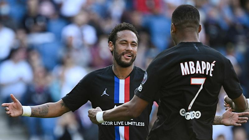 Neymar and Mbappe dazzle France's first post-Covid football crowd as PSG ease to friendly win