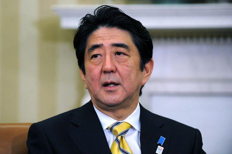 "Japan's new conservative Prime Minister Shinzo Abe speaks following a bilateral meeting with US President Barack Obama in the Oval Office at the White House, on February 22, 2013. Abe carefully avoided disagreements with Obama after previous Japanese governments' rifts and declared: ""The alliance between Japan and the United States is back now. It's completely back."""