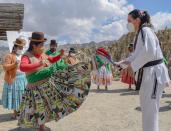 Bolivia's Aymara women train to fight back against domestic violence, on the outskirts of La Paz