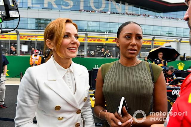 "Geri Horner y Mel B, Spice Girls <span class=""copyright"">Mark Sutton / Motorsport Images</span>"