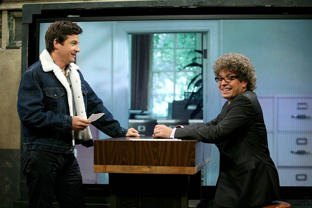 "Jason Bateman may be all about promoting his new film ""The Change-Up"" lately, but on Wednesday, talk show host Jimmy Fallon was more interested in reenacting a scene from a movie Bateman did nearly 25 years ago -- ""Teen Wolf Too."" Lloyd Bishop/NBC - August 3, 2011"