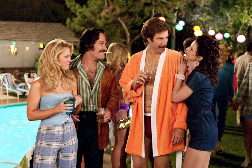 Will Ferrell in Anchorman: The Legend of Ron Burgundy, 2004.