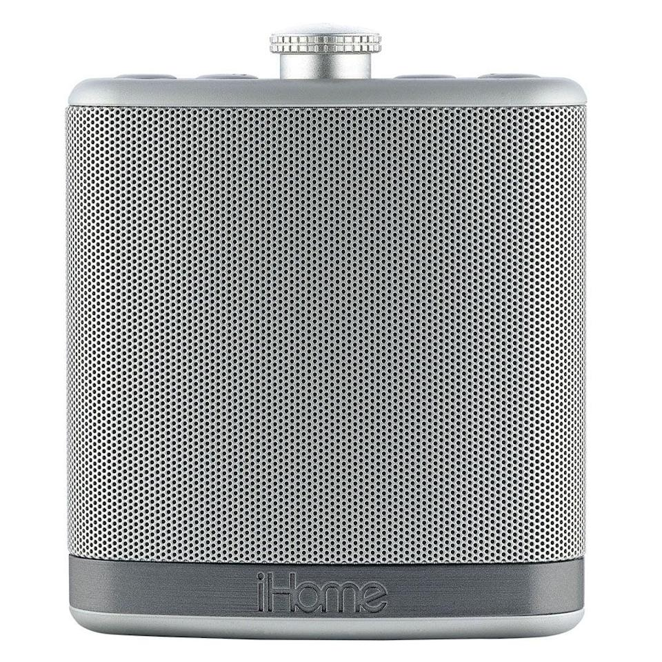 """<p>While you can't actually put alcohol into the <a href=""""https://www.popsugar.com/buy/iBT12-iHome-speaker-330727?p_name=iBT12%20iHome%20speaker&retailer=amazon.com&pid=330727&price=22&evar1=geek%3Aus&evar9=36026397&evar98=https%3A%2F%2Fwww.popsugar.com%2Ftech%2Fphoto-gallery%2F36026397%2Fimage%2F37533860%2FiHome-Flask-Shaped-Speaker&list1=gifts%2Choliday%2Cgift%20guide%2Cdigital%20life%2Cfathers%20day%2Choliday%20living%2Ctech%20gifts%2Cgifts%20for%20men&prop13=mobile&pdata=1"""" class=""""link rapid-noclick-resp"""" rel=""""nofollow noopener"""" target=""""_blank"""" data-ylk=""""slk:iBT12 iHome speaker"""">iBT12 iHome speaker</a> ($22), it's a product any guy would enjoy. It is Bluetooth-enabled and includes a leather-style case for on-the-go use.</p>"""
