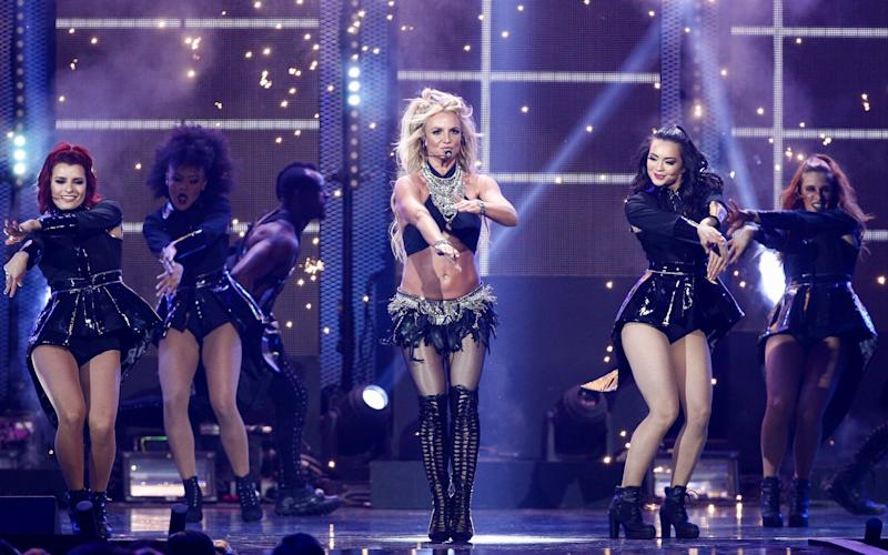 Britney Spears performs in Las Vegas in 2016 - Invision