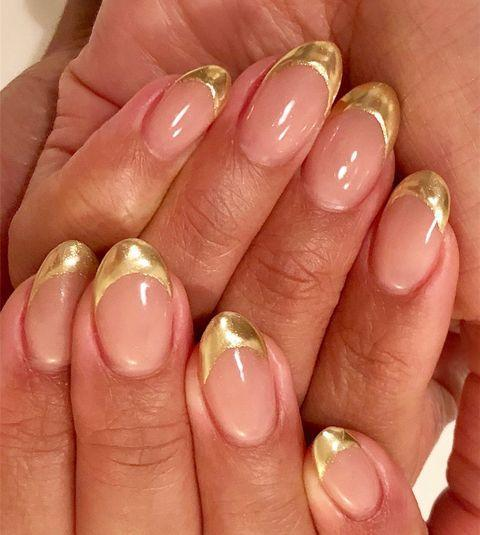 """<p> This golden-tipped French manicure may be the most subtle way to show off your sparkle.</p><p><a class=""""link rapid-noclick-resp"""" href=""""https://www.amazon.com/OPI-Nail-Lacquer-Glitzerland-0-5/dp/B004222082/?tag=syn-yahoo-20&ascsubtag=%5Bartid%7C10055.g.29799716%5Bsrc%7Cyahoo-us"""" rel=""""nofollow noopener"""" target=""""_blank"""" data-ylk=""""slk:SHOP GOLD NAIL POLISH"""">SHOP GOLD NAIL POLISH</a></p><p><a href=""""https://www.instagram.com/p/B3NFZB4F2mQ/&hidecaption=true"""" rel=""""nofollow noopener"""" target=""""_blank"""" data-ylk=""""slk:See the original post on Instagram"""" class=""""link rapid-noclick-resp"""">See the original post on Instagram</a></p>"""
