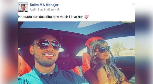 Salim Mehajer and wife Aysha. Source: Facebook