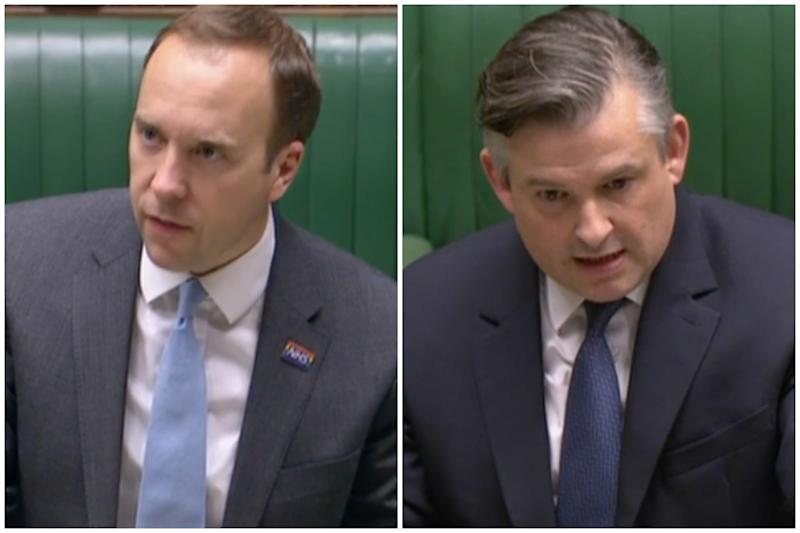 Matt Hancock and Jon Ashworth (Parliamentlive.tv)
