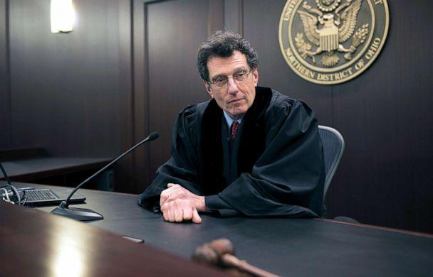 PHOTO: U.S. District Judge Dan A. Polster in his courtroom at the Carl B. Stokes U.S. Courthouse, in Cleveland, Ohio, Jan. 29, 2018. (The New York Times via Redux, FILE)