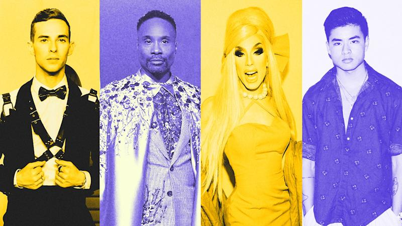 Olympian Adam Rippon, actor Billy Porter, 'Drag Race' winner Alaska Thunderfuck, and actor/artist Chella Man