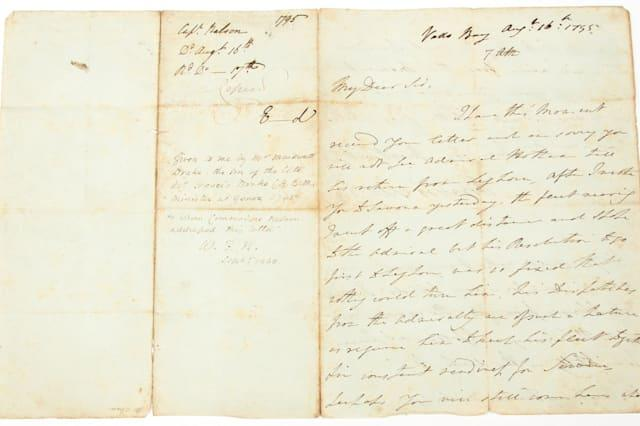 Lord Admiral Nelson letter