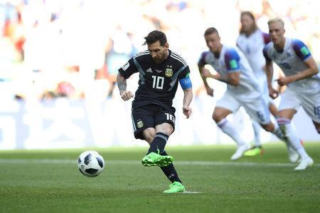 FILE PHOTO: Argentina vs Iceland - Spartak Stadium, Moscow, Russia - June 16, 2018 Argentina's Lionel Messi misses a penalty REUTERS/Carl Recine/File Photo