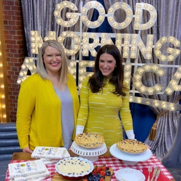 PHOTO: Stephanie Hockersmith, left, appears on 'Good Morning America' with her book-inspired pies. (ABC News)