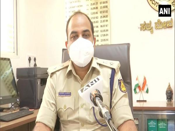 Sanjeev Patil, Deputy commissioner of police (DCP), West Division, Bengaluru City speaking to ANI on Tuesday. (Photo/ANI)