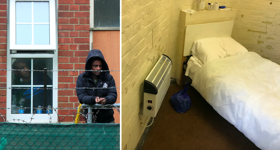 The former Army barracks in Kent have been used to house hundreds of asylum seekers since last September. (Independent Chief Inspector of Borders and Immigration)