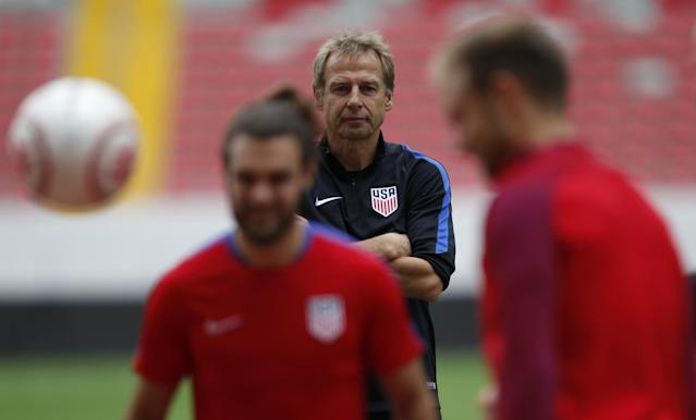 Klinsmann has responded to calls for his firing in a most predictable manner. (AP Photo)