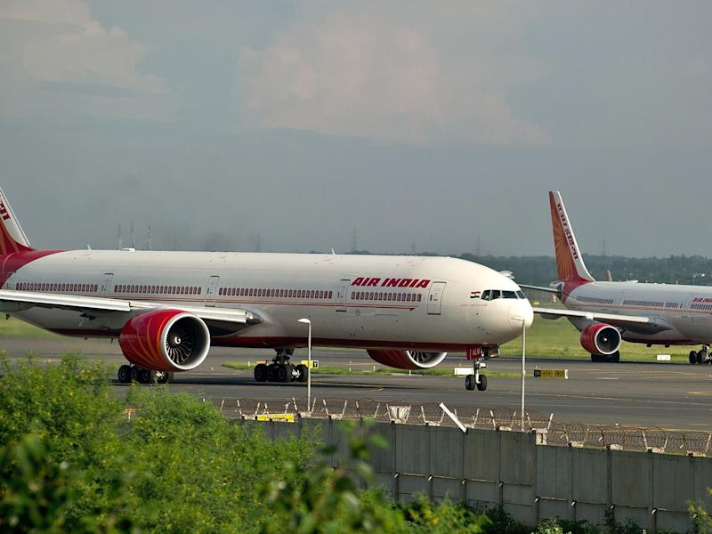 Air India planes prepare for take-off at the Indira Gandhi International Airport in New Delhi on September 8, 2012. Boeing hiked its forecast for India's aircraft market by more than 11 percent, saying the country will require 1,450 new planes worth a total of USD 175 billion over the next two decades: AFP/Getty