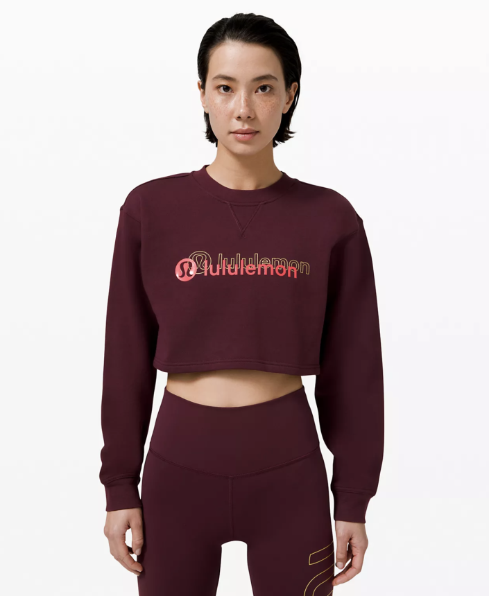 """<p><strong>Lululemon</strong></p><p>lululemon.com</p><p><strong>$98.00</strong></p><p><a href=""""https://go.redirectingat.com?id=74968X1596630&url=https%3A%2F%2Fshop.lululemon.com%2Fp%2Fwomens-outerwear%2FAll-Yours-Cropped-Crew-LNY%2F_%2Fprod10190140&sref=https%3A%2F%2Fwww.cosmopolitan.com%2Fstyle-beauty%2Ffashion%2Fg35293423%2Flululemon-dropped-a-whole-new-collection-for-lunar-new-year-2020%2F"""" rel=""""nofollow noopener"""" target=""""_blank"""" data-ylk=""""slk:Shop Now"""" class=""""link rapid-noclick-resp"""">Shop Now</a></p><p>With jeans, with leggings–doesn't matter what you wear this crop with. You'll still look hot. </p>"""