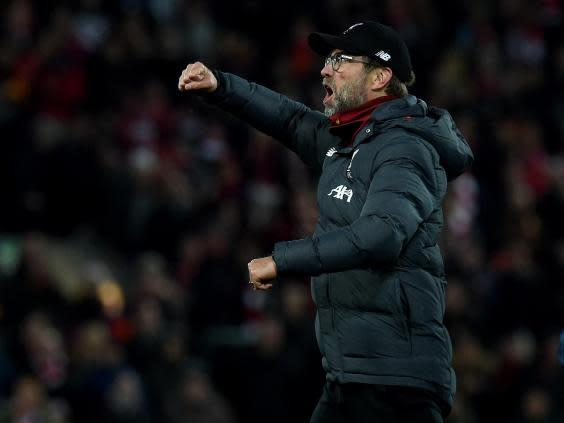 Jurgen Klopp insisted he is not feeling any pressure as Liverpool opened an eight-point lead (Liverpool FC via Getty)