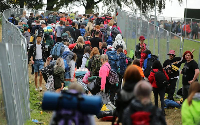 Thousands of people attend Leeds Festival every year - SWNS - LEEDS