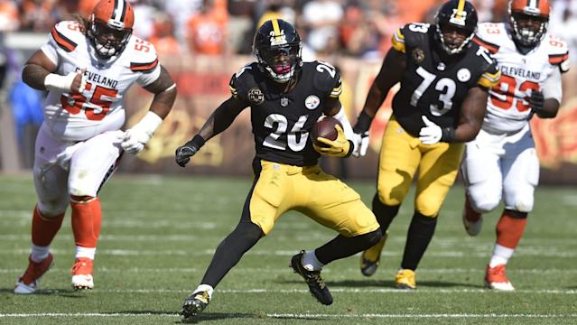"<a class=""link rapid-noclick-resp"" href=""/nfl/teams/pit"" data-ylk=""slk:Steelers"">Steelers</a> running back <a class=""link rapid-noclick-resp"" href=""/nfl/players/26671/"" data-ylk=""slk:Le'Veon Bell"">Le'Veon Bell</a> [Getty Images]"