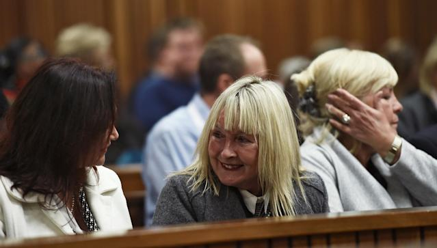 June Steenkamp arrives for the sentencng of Olympic and Paralympic track star Oscar Pistorius at the North Gauteng High Court in Pretoria, South Africa, July 6, 2016. REUTERS/Masi Losi/Pool