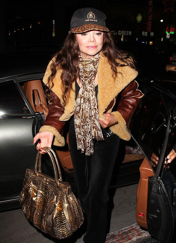 "How many defenseless animals had to die in order for La Toya Jackson to get dressed? Greg Tidwell/<a href=""http://www. PacificCoastNews.com"" target=""new"">PacificCoastNews.com</a> - December 16, 2009"
