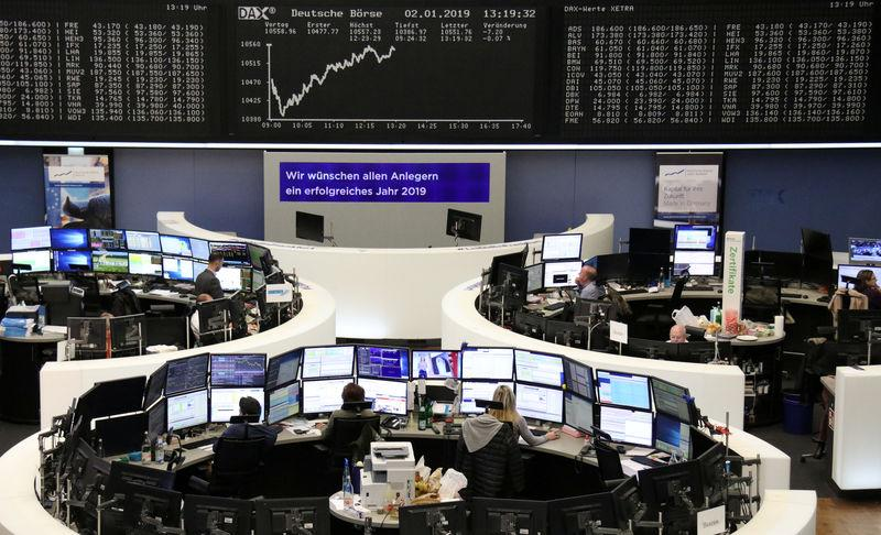 The German share price index DAX graph is pictured at the stock exchange in Frankfurt, Germany, January 2, 2019. REUTERS/Staff