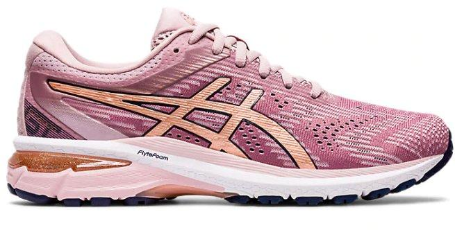 asics rose colored sneakers
