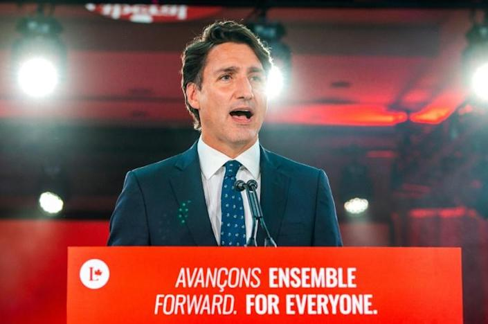 Canadian Prime Minister Justin Trudeau called the snap election hoping to win a majority but looks set to return at the head of another minority government (AFP/ANDREJ IVANOV)