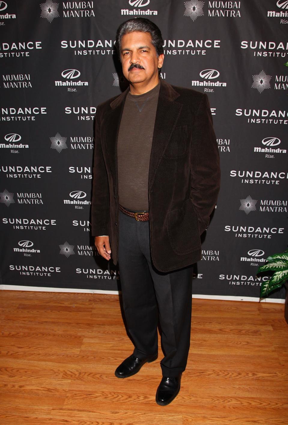 PARK CITY, UT - JANUARY 24: Vice Chairman & Managing Director of the Mahindra Group, Anand Mahindra attends the Sundance Institute Mahindra Global Filmmaking award reception during the 2012 Sundance Film Festival held at Sundance House on January 24, 2012 in Park City, Utah. (Photo by Jonathan Leibson/Getty Images)