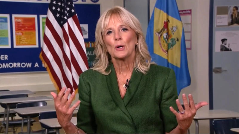 Dr. Jill Biden speaks during the virtual Democratic National Convention on August 18, 2020. (via Reuters TV)