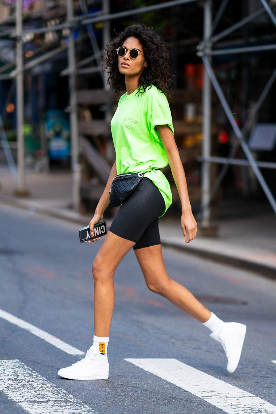 """<p class=""""body-dropcap"""">Trends come and go, but bike shorts and leggings are forever. It can seem wild to remember how the internet once argued—like, <em>a lot</em>—over whether leggings were pants or not because, hello, is there really any doubt at this point? And now it's 2021 and their cropped cousin, <a href=""""https://www.cosmopolitan.com/style-beauty/fashion/a22718139/bike-shorts-trend/"""" rel=""""nofollow noopener"""" target=""""_blank"""" data-ylk=""""slk:the bike short"""" class=""""link rapid-noclick-resp"""">the bike short</a>, has fully been accepted as shorts (and high-fashion ones at that).</p><p>With a rebound summer and revenge travel on the horizon, we need a wardrobe that feels good and looks better, and there's nothing cut out for the task quite as well as stretchy, soft, curve-hugging leggings and bike shorts. Add to that another widely accepted fact—that shopping for anything on <a href=""""https://www.amazon.com/?tag=syn-yahoo-20&ascsubtag=%5Bartid%7C10049.g.36641359%5Bsrc%7Cyahoo-us"""" rel=""""nofollow noopener"""" target=""""_blank"""" data-ylk=""""slk:Amazon"""" class=""""link rapid-noclick-resp"""">Amazon</a> is the easiest way to go—and it felt like the right time to do a deep dive on the various Amazon brands that make some super worth-it options.</p>"""
