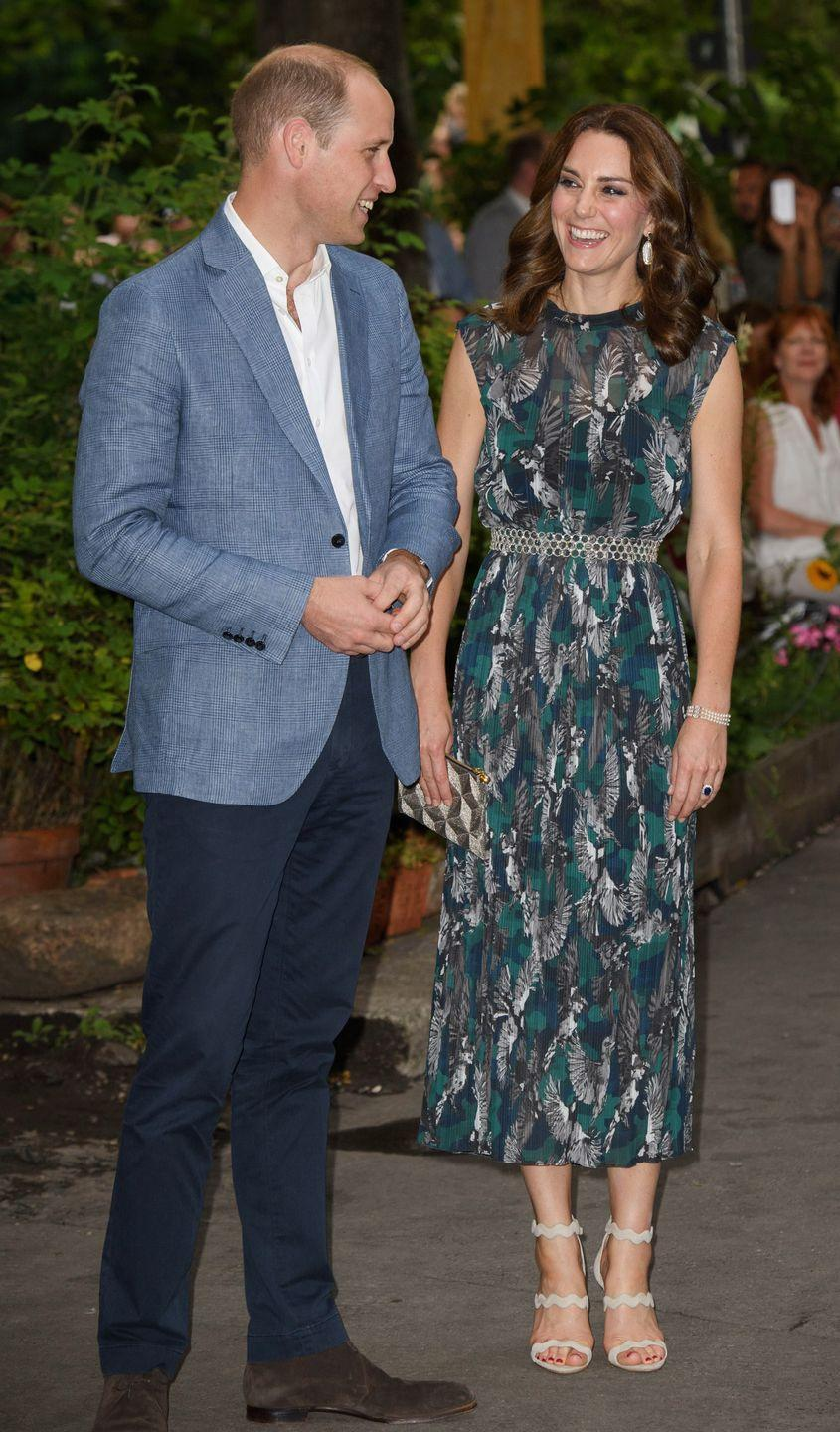 <p>Throughout the royal tour, Duchess Kate has proved to be an expert in diplomatic dressing. During a visit to the Clärchens Ballhaus in Berlin, for example, she opted for a printed dress by Germany designer Markus Lupfer.</p>