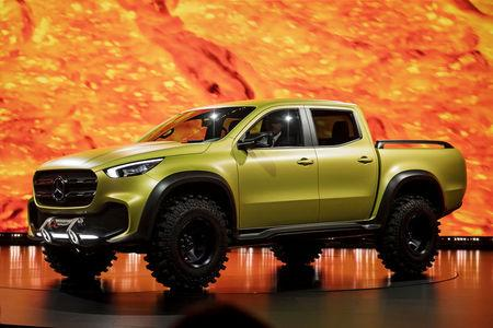 Mercedes Benz Unveil The New Pickup At A Press Event Held