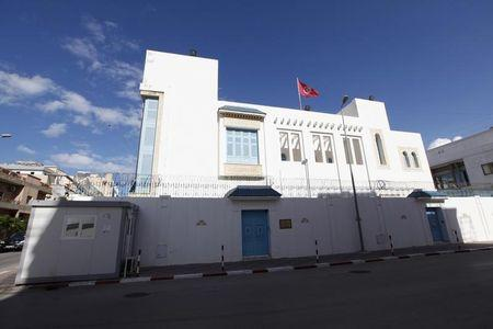 An exterior view of the Tunisian embassy is seen in Tripoli April 17, 2014. REUTERS/Ismail Zitouny