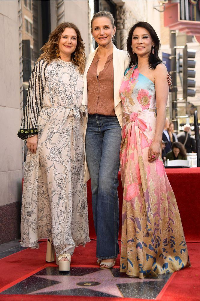 From L to R: Drew Barrymore, Cameron Diaz and Lucy Liu in 2019 | Matt Winkelmeyer/Getty